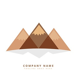 Three mountain shapes design vector
