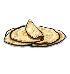 Bread pita vector