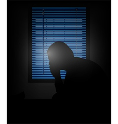 loneliness vector image