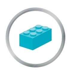 Building block cartoon icon for web vector image