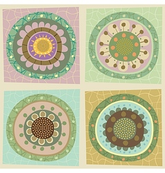 Decorative Floral Tiles vector image