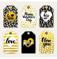 Valentines day trendy gift labels vector