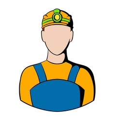 Coal miner icon icon cartoon vector
