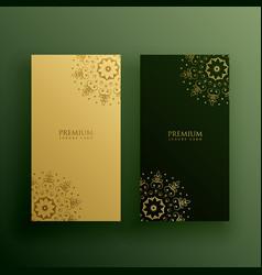 Premium card design in mandala decoration vector