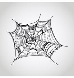 spider-web vector image