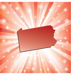 Red pennsylvania vector