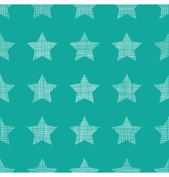 Stars textile textured green seamless pattern vector