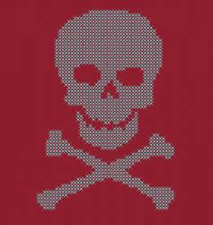 skull bling vector image