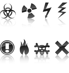 Warning icon set vector