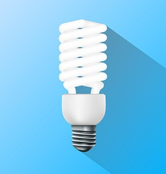 Energy saving lamp flat graphics vector