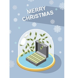 Marry christmas wealth vector