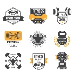 Sport and fitness logo templates gym logotypes vector