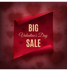 Big Valentines day sale poster template vector image