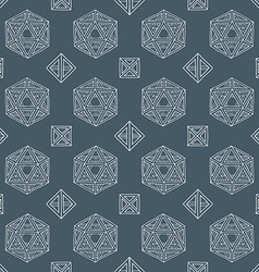 Hand drawn polyhedrons seamless pattern vector