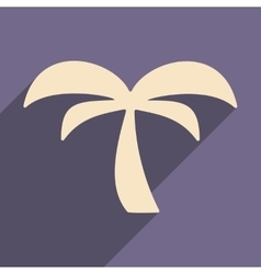 Flat with shadow icon and mobile applacation palm vector