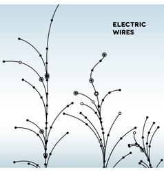 Wire grid trees made of connected dots vector