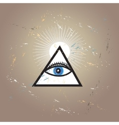 Graphic all-seeing eye vector
