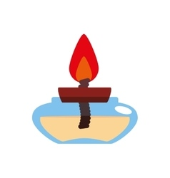 Candle icon light design graphic vector