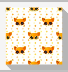 Animal seamless pattern collection with fox 5 vector