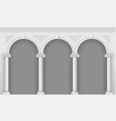antique white arcade vector image