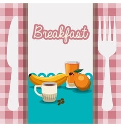 Breakfast food healthy nutrition utensils vector