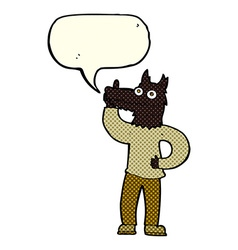 Cartoon werewolf with idea with speech bubble vector