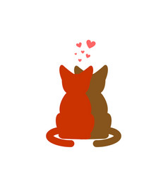 Cat lovers embrace pet lover cuddle romantic date vector