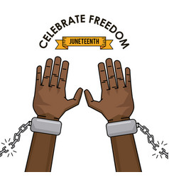 Celebrate freedom juneteenth campaign image vector