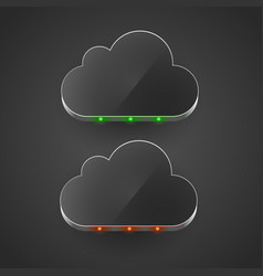 cloud technology computing concept led cloud vector image vector image