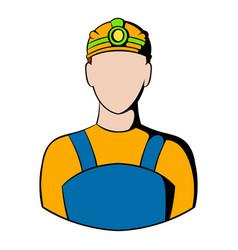 Coal miner icon icon cartoon vector
