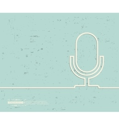 Creative microphone art vector