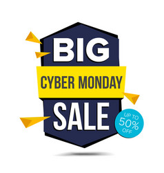 cyber monday sale banner advertising vector image