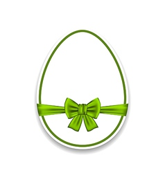 Easter egg wrapping green bow isolated on white vector