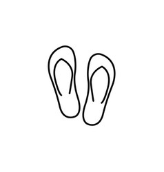 Flip flops line icon travel tourism vector