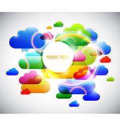 fun clouds vector image vector image
