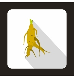 Ginseng rot icon in flat style vector