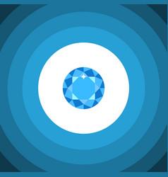 Isolated brilliant flat icon diamond vector
