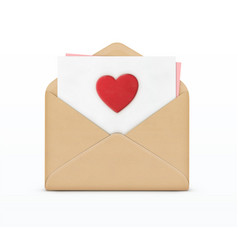 love letter concept vector image