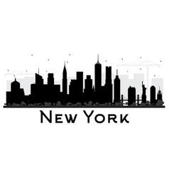 new york usa city skyline black and white vector image vector image