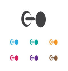 Of exercise symbol on vector