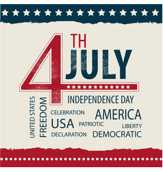 Postcard independence day usa july 4 with the tag vector