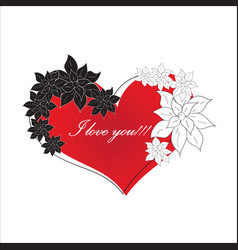 red love vector image vector image