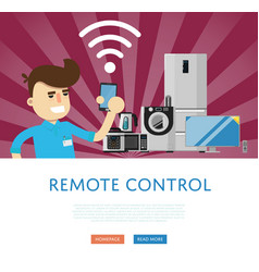 Remote control for household appliances concept vector