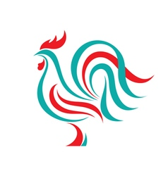 Rooster logo template concept vector image