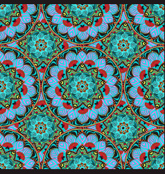 seamless patchwork pattern from colorful oriental vector image