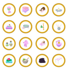Spa cartoon icon circle vector