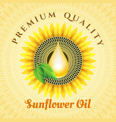 sunflower oil label vector image vector image