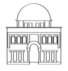 Synagogue building icon vector