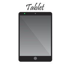 tablet with blank screen vector image