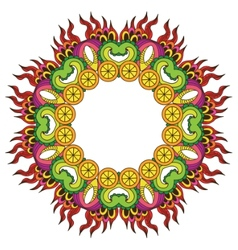 Thai garland vector image vector image